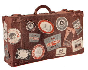 Leather Lugggage Labels Antique